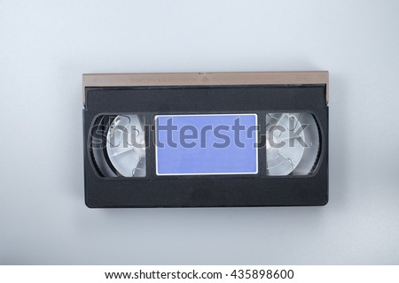 vhs video cassette Tape Isolated on white background - stock photo