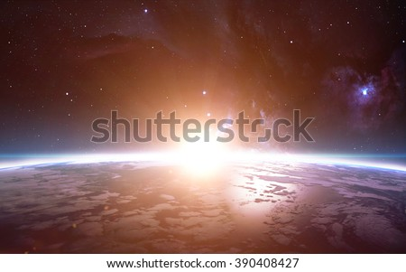 View of earth from space. Elements of this image furnished by NASA
