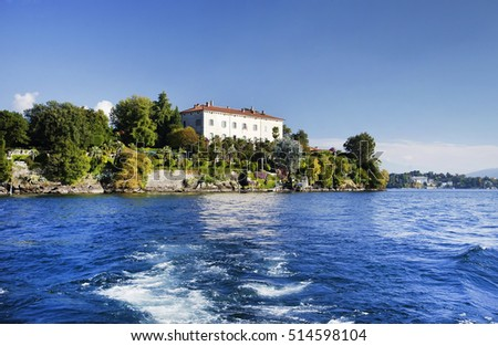 View of Isola Madre on the Lago Maggiore, Northern Italy, Europe.