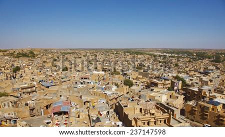 view of Jaisalmer, India - stock photo