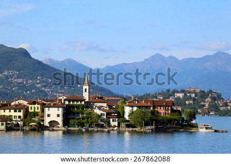 view of Lago Maggiore,  Italy - stock photo