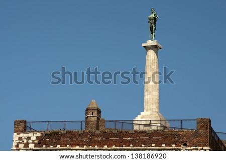 View of the Belgrade fortress Kalemegdan - stock photo
