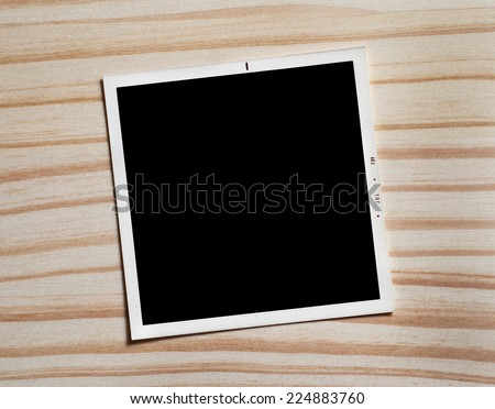 Vintage blank photograph frame with copy space.  - stock photo