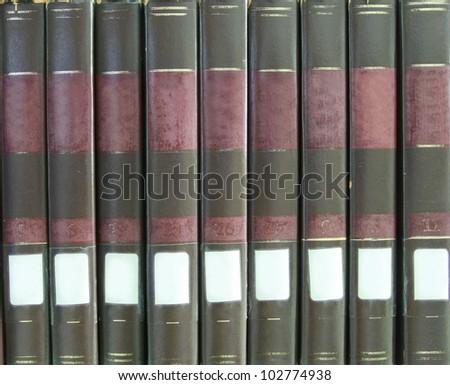 vintage book saddle background - stock photo