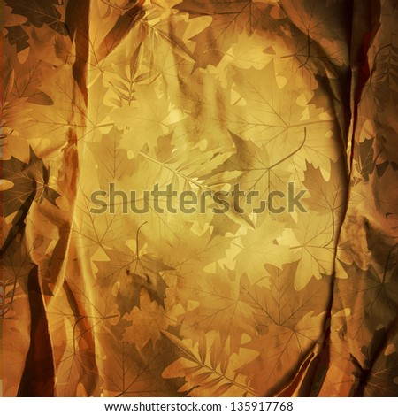 vintage retro background with autumn leaves