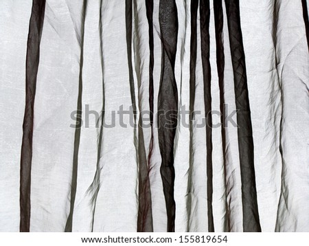 Voile curtain grey background   - stock photo