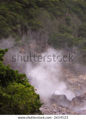 """Volcano"" at St. Lucia - stock photo"