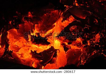 """""""Volcano lava, Volcano National Park, Hawaii, (Keith Levit)"""" - stock photo"""