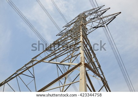 500,000 volts Transmission Tower - stock photo