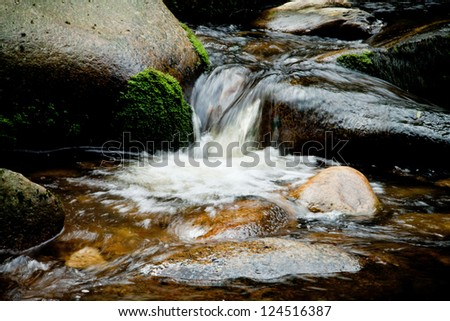 Vydra River, Sumava Mountains, Czech Republic, Europe.