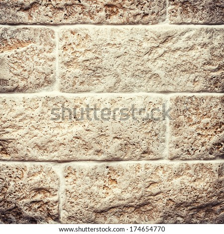 Wall background with vignette - stock photo