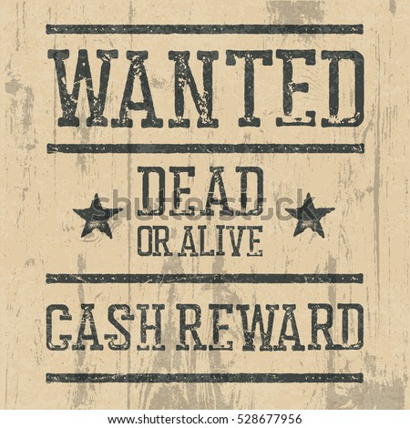 Wanted Poster Design Template Wanted Sign Stock Illustration ...
