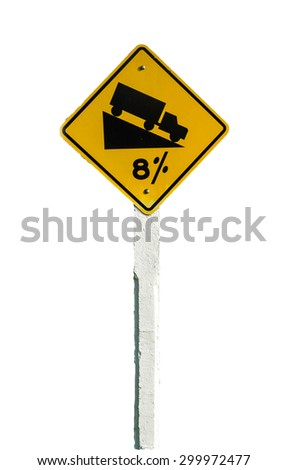 Warning Sign isolated with clipping path