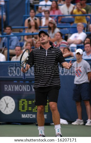 WASHINGTON, D.C. - AUGUST 14, 2008:  Andy Roddick (USA) defeats Eduardo Schwank (ARG, not pictured) at the Legg Mason Tennis Classic