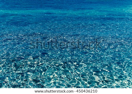 Water background / Abstract blue water sea for background  - stock photo