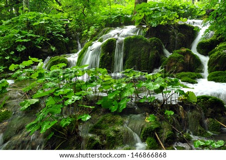 waterfall in kravica - stock photo