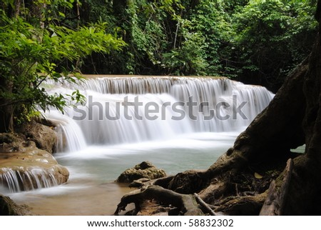 Waterfall Mountain - stock photo