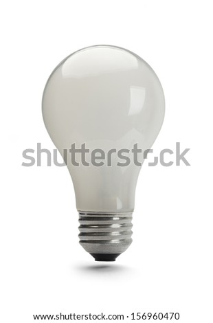 100 watt Light Bulb Off Isolated on White Background.