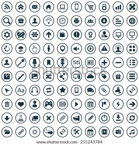 100 webdesign icons, universal set