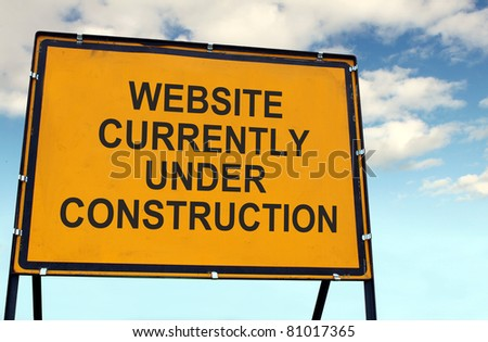 'Website Currently Under Construction' Sign