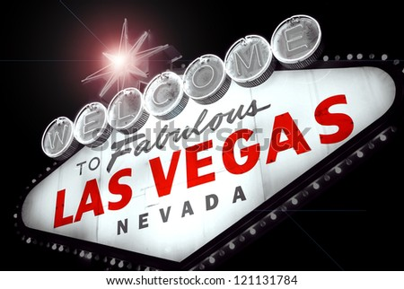 Welcome to Las Vegas, Fabulous. Nevada (USA) - stock photo
