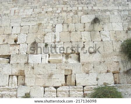 Western Wall, Jerusalem.Israel - stock photo