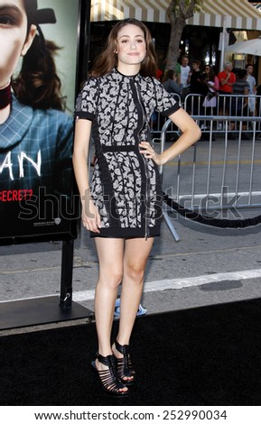 "21/7/2009 - Westwood - Emmy Rossum at the Los Angeles Premiere of ""Orphan"" held at the Mann Village Theater in Westwood, California, United States."