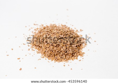 Wheat bran isolated on white
