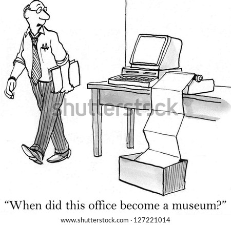 """When did this office become a museum?"" - stock photo"
