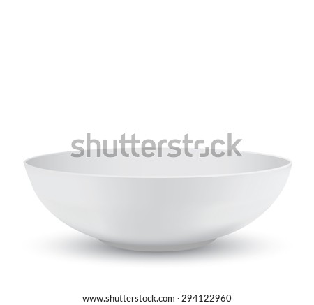White Bowl - stock photo