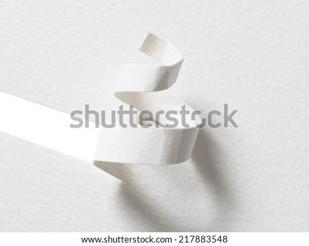 white,handmade Christmas tree cut out from paper, simple and effective solution - stock photo