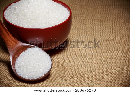 White sugar in a bowl - stock photo