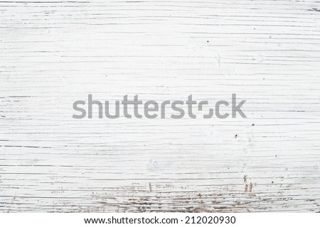 White wood background - stock photo