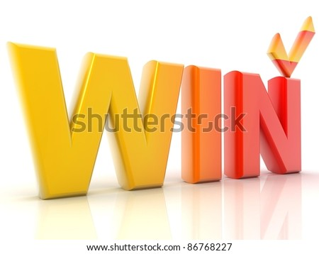 Win - stock photo