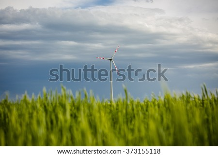 Wind turbine. Clean energy