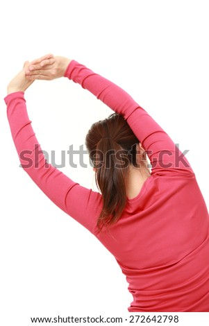woman doing stretch