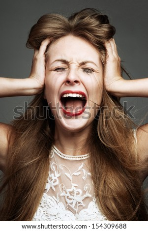 woman is under stress
