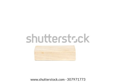 Wooden blocks,building construction bricks over white background
