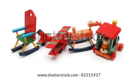 wooden toys - stock photo