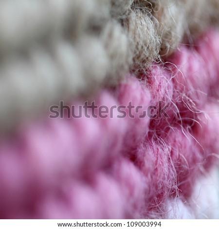 wool  close up - stock photo