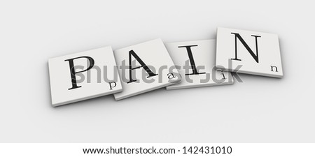 Word 3d sign - stock photo