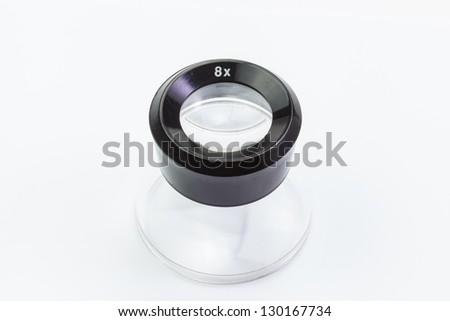 8X photographic loupe - stock photo