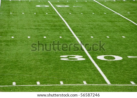 30 Yard Line - stock photo