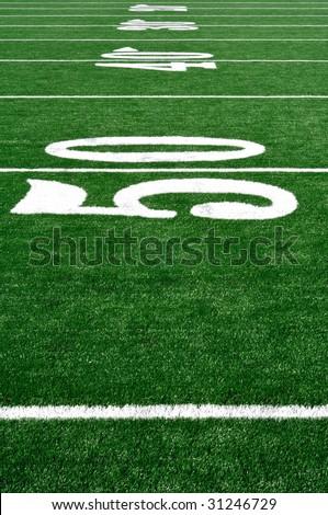 American Football Field Grass Stock Photo 493321462