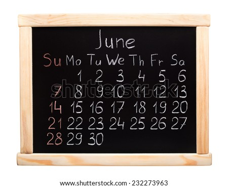 2015 year calendar. June. Week start on sunday