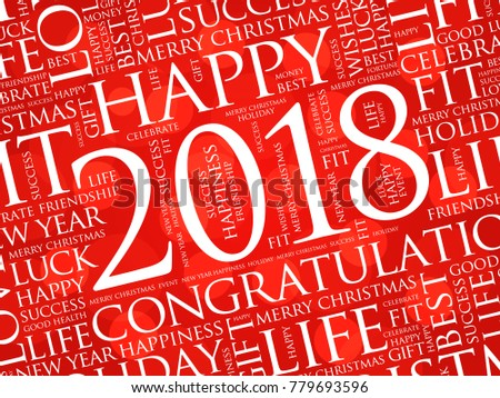 2018 year greeting word cloud collage stock illustration 779693596 2018 year greeting word cloud collage happy new year celebration greeting card m4hsunfo Image collections