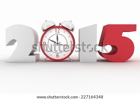 2015 year. Isolated 3D image  - stock photo
