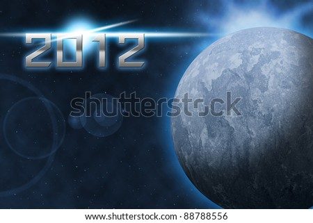 2012 year of the world - stock photo