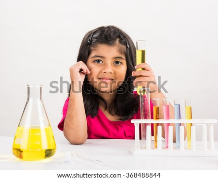 kids science concept cute indian little stock photo