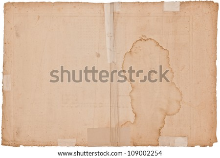 300-year old paper/parchment, high quality file - stock photo